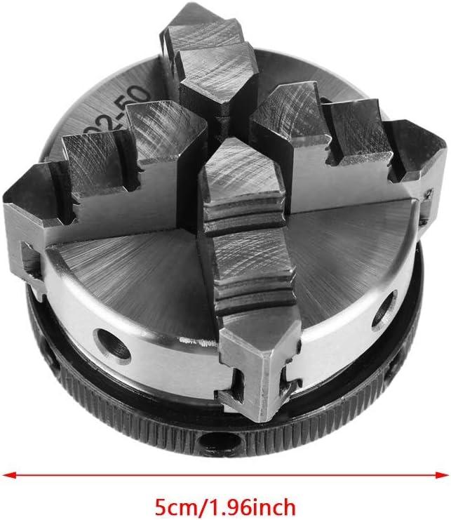 Compact Mini 50mm Mini 4 Jaw Reversible Self-Centering M 14 Thread Mount Lathe Manual Chuck K02-50 for Woodworking Lathe KONGZIR Self-Centering Lathe Chuck