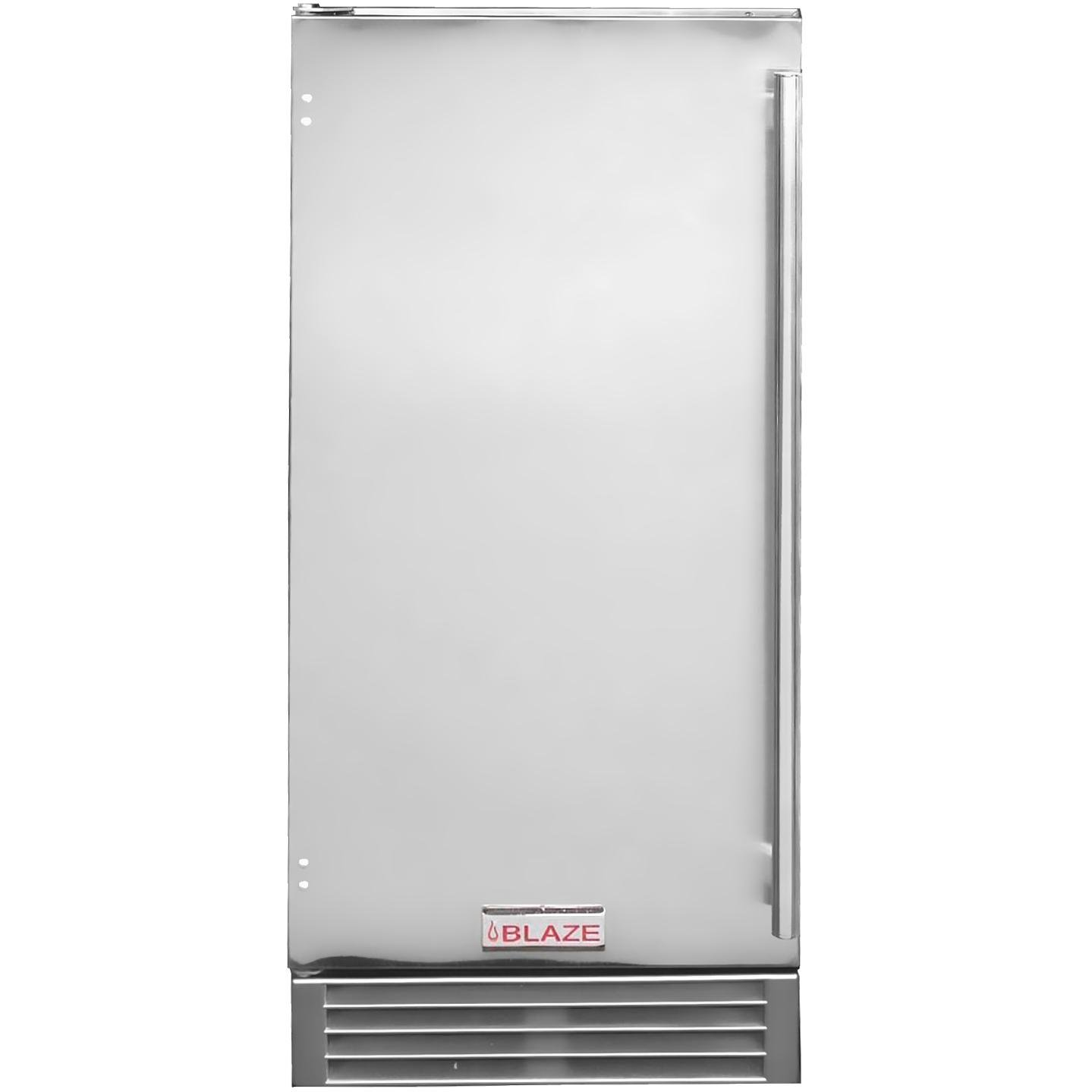 Blaze 50 Lb. 15-inch Built-in / Freestanding Outdoor Ice Maker With Gravity Drain - Stainless Steel