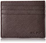 Jack Spade Men's Barrow Leather 6 Card Holder, Brown, One Size