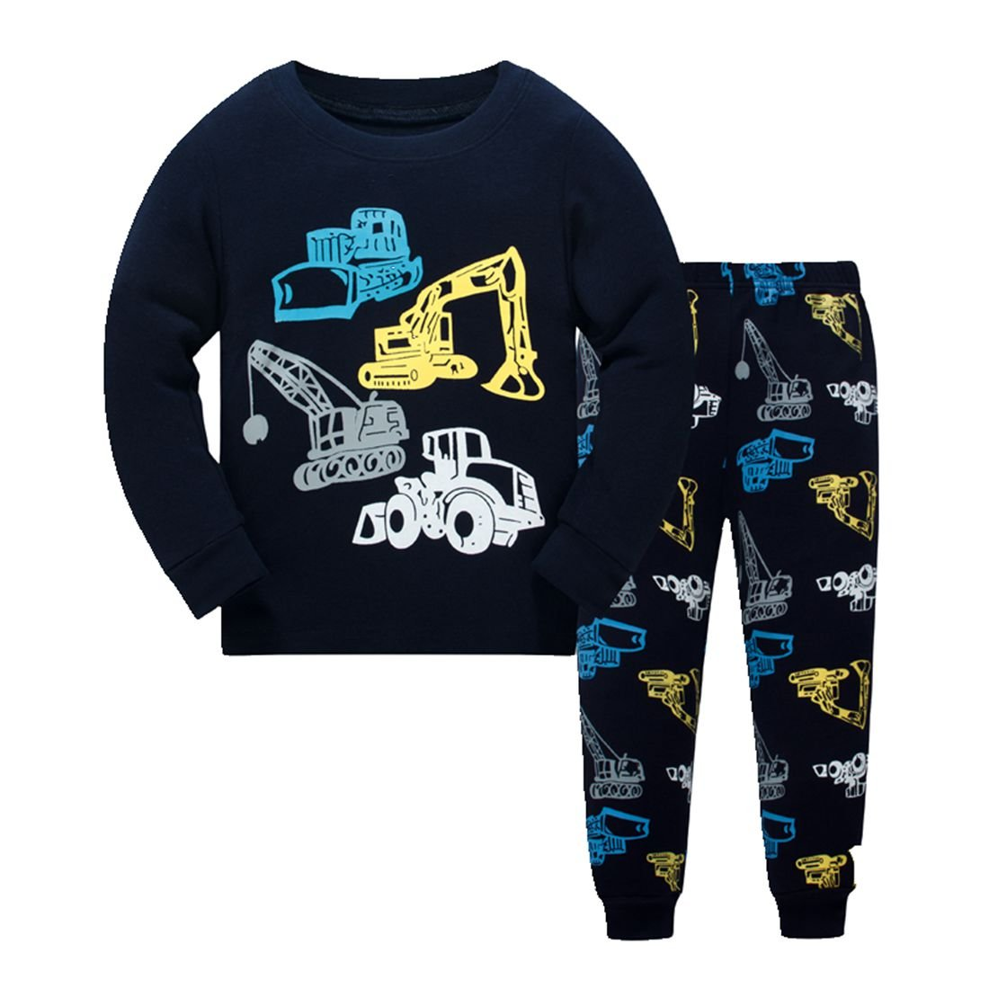 Boys Pajamas Cosy Long Sleeves Toddler Clothes Crane Kids Pjs Sleepwear 2 Piece Yzjcafriz