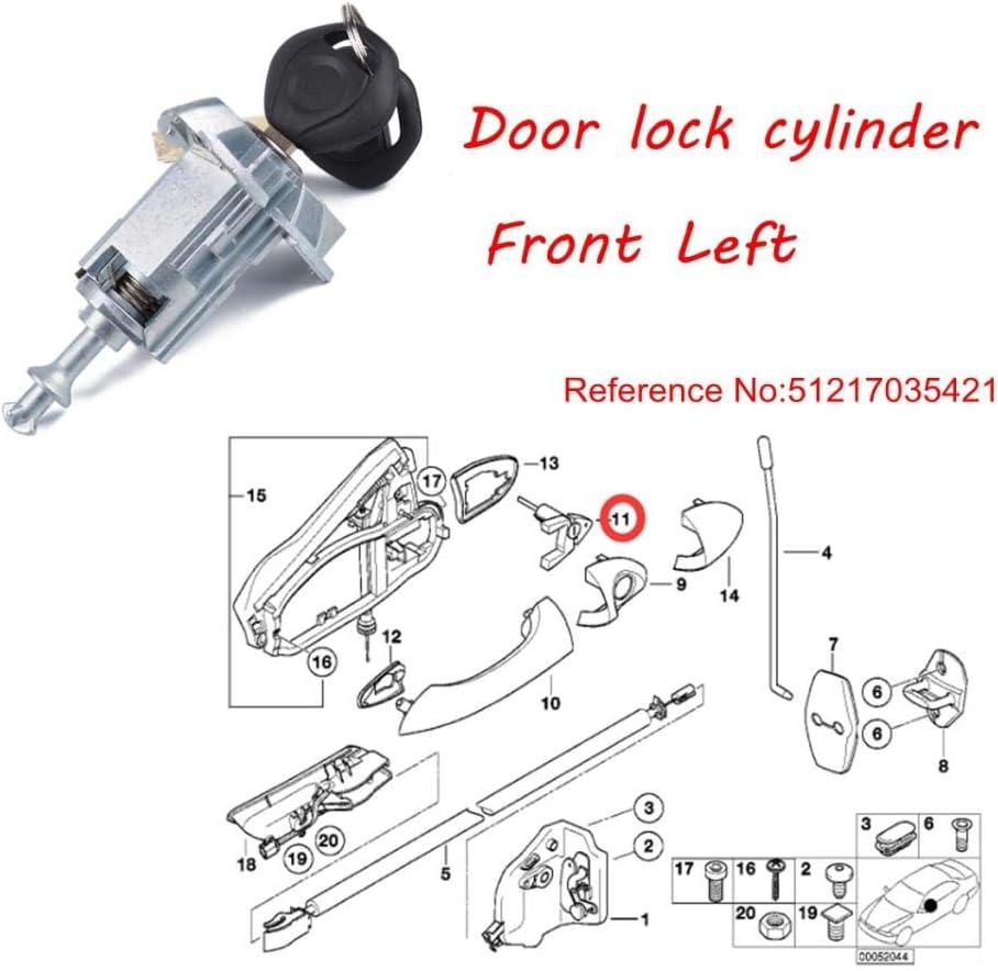 Shiwaki Front Left Door Lock Door Latch Replacement Fits for BMW X3 2003-2010 X5 2000-2006 9 4.5 5.8CM