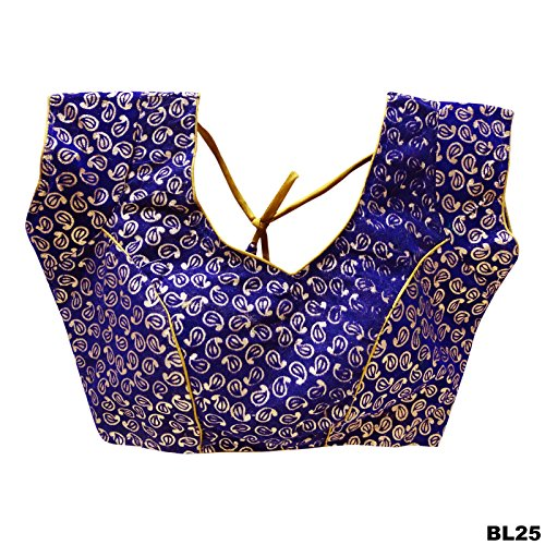 Blue Party Wear Velvet Ready-Made Indian Saree Blouse Indian Designer Ethnic Women Blouse (Ready Made Designer Saree Blouses compare prices)