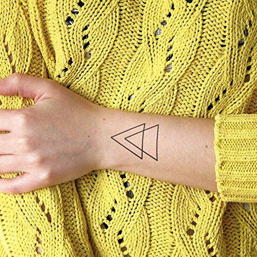 Double Triangle Tatouages Temporaires Lot De 2 Tatouages Amazon