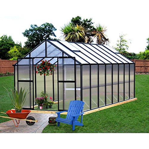 Riverstone Industries Monticello (8×16) Black Greenhouse
