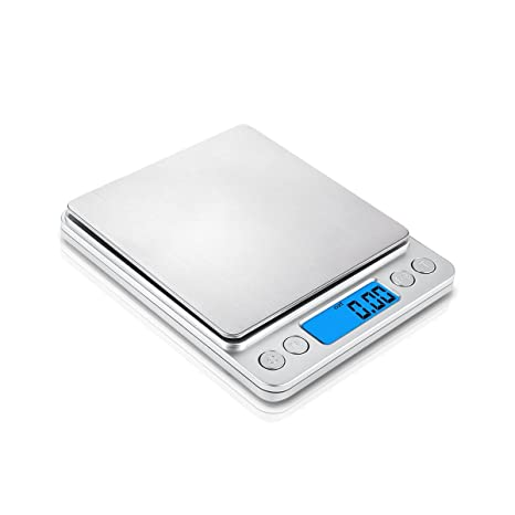 Surenhap Báscula de Cocina Digital, 500g / 0.01g Báscula de cocción Pro con Pantalla
