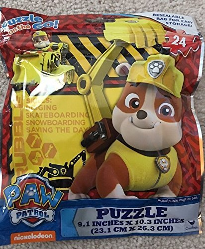Paw Patrol Puzzle on the Go 24 Piece in a Resealable Bag by Nickelodeon