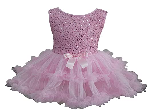 3d395a11a4 Image Unavailable. Image not available for. Color  Popatu Little Girls Pink  Sequin Petti Dress
