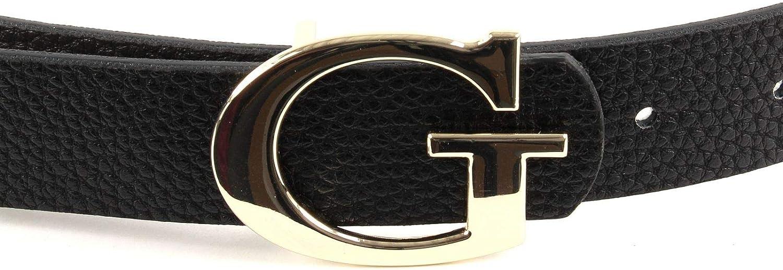 Guess Aretha réversible Belt w85 Ceinture Accessoire Black//stone noir beige