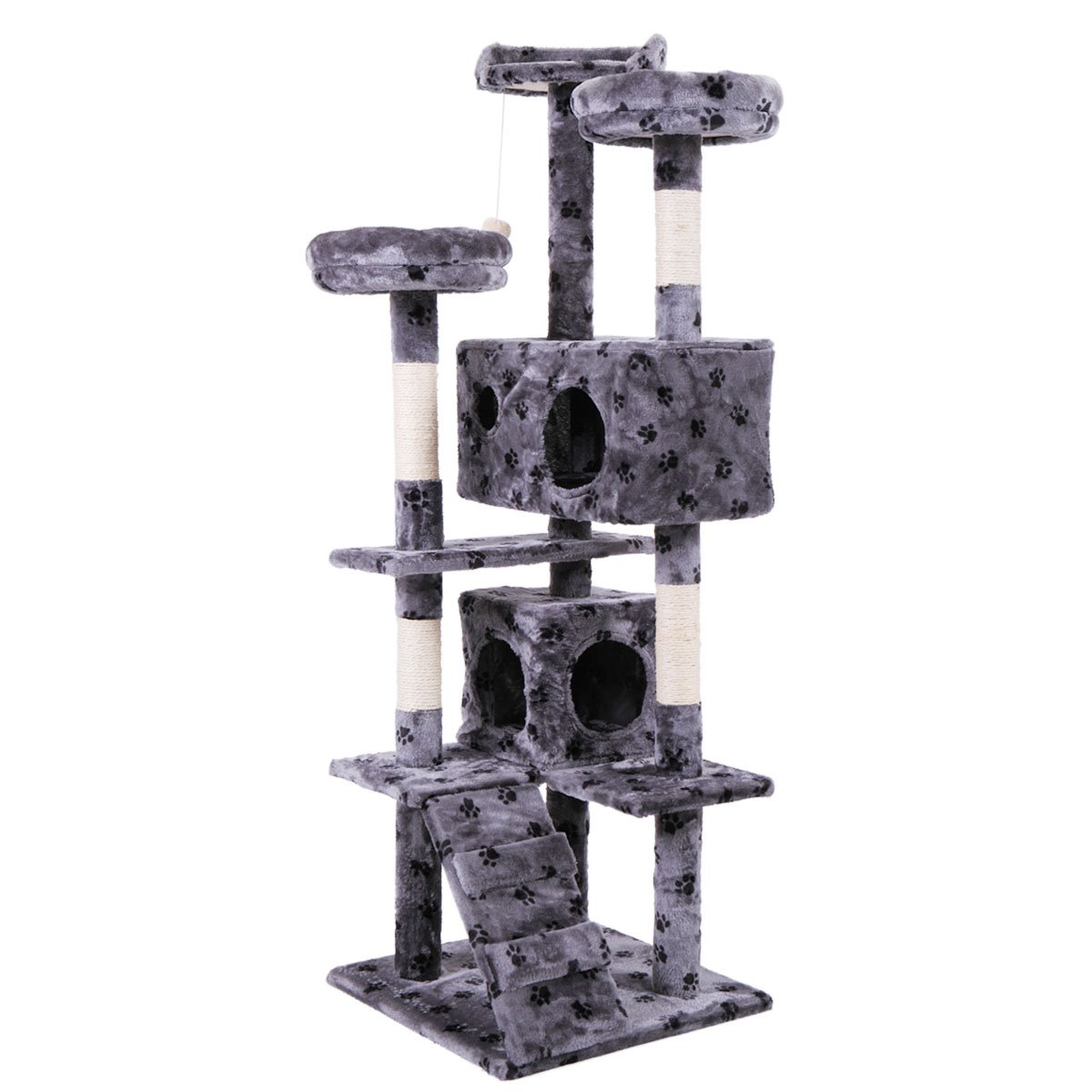 Tobbi 5 Levels Cat Tower Tree House Kitty Scratcher Play House Furniture W/Toys