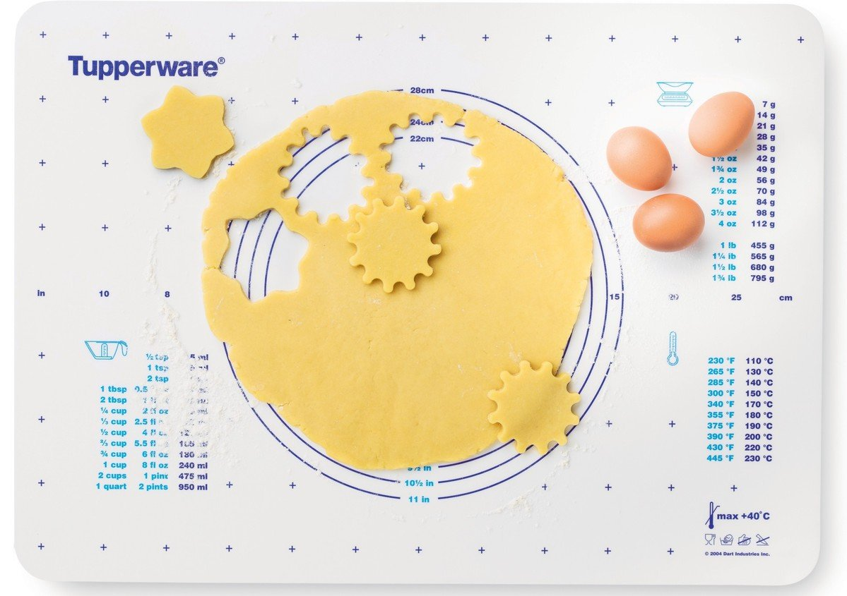 Tupperware Pastry Sheet / Pastry mat size: L 25 x 18,11 inch