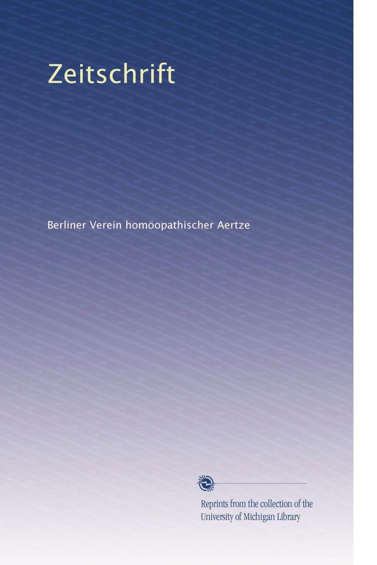 Read Online Zeitschrift (German Edition) pdf