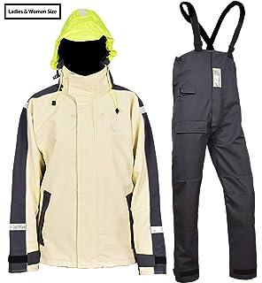 dc3f08a29eaa Navis Marine Women's Sailing Jacket with Bib Pants Rain Suits PRO  Waterproof Breathable Windproof