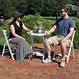 Sunnydaze 3-Piece Bistro Set, Folding Outdoor