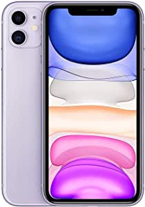Apple iPhone 11 with FaceTime Physical Dual SIM - 64 GB, 4G LTE, Purple - Hong Kong Version