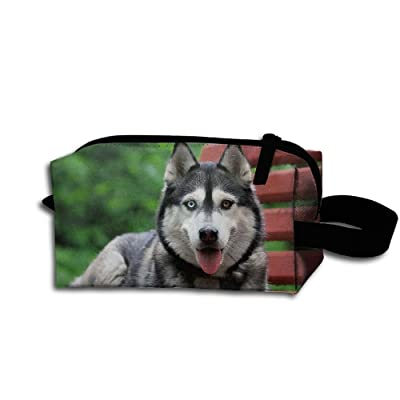 07d2798aed outlet Travel Bag Siberian Husky Toiletry Bag Clash Durable Zipper Wallet  Makeup Handbag With Wrist Band