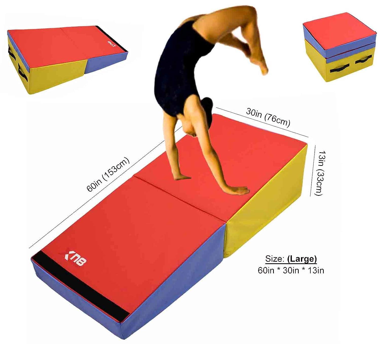 Xn8 Sports, Neigungsmatte/Keilrampe/Gymnastikmatte, faltbar, mehrfarbig, Yoga, Fitness, Workout