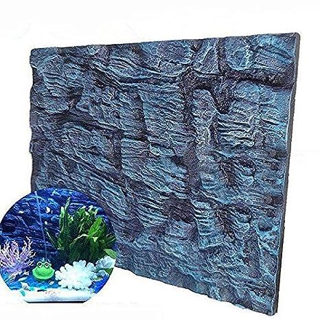 Bureze Aquatic Creations - Fondo para Acuario, diseño de Calcetines universales, Espuma 3D, Fondo para pecera: Amazon.es: Hogar