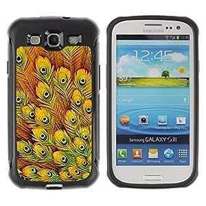 "Pulsar iFace Series Tpu silicona Carcasa Funda Case para Samsung Galaxy S3 III I9300 , Plumas amarillas vibrante Pájaro África"""
