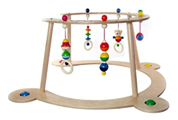 Multi-Color 70 x 70 x 36 cm Hess 13333 Wooden Gym /& Walker Baby Toy