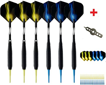 Sinwind Flechettes Electronique 12 + Extra 6 Flechette Pointe Plastique 18g