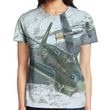 3c3486e1d Amazon.com: Vintage Fighters World War II Japanese Zero Type Nazi Iron  Cross Atlanta Tshirt Women Tee T Shirt: Clothing