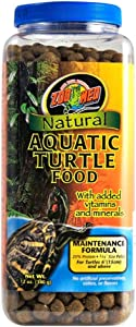 Zoo Med Natural Aquatic Turtle Food Maintenance Formula [Set of 2] Size: 12 Oz.