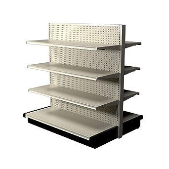 Lozier - Estantería de doble cara para góndola - 8 estantes - exhibidor comercial con capacidad para 2100 libras ...