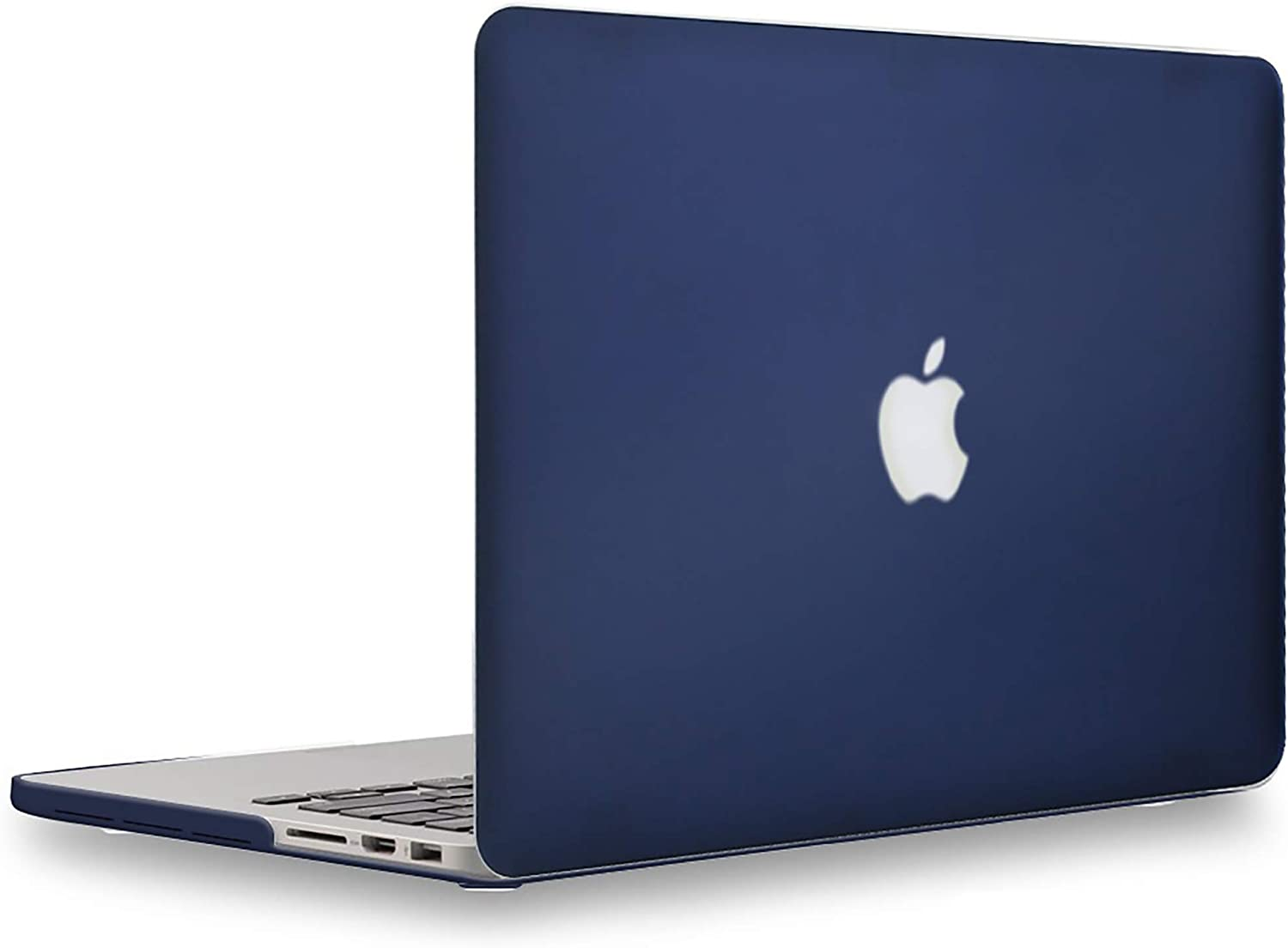 UESWILL Matte Hard Case for MacBook Pro (Retina, 15 inch, Mid 2012/2013/2014/Mid 2015), Model A1398, NO CD-ROM, NO Touch Bar , Navy Blue