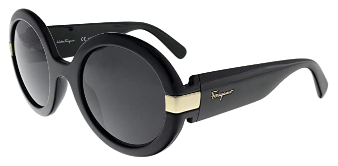 bd50ba954c Image Unavailable. Image not available for. Color  Salvatore Ferragamo  Women s Gancino Round Sunglasses ...