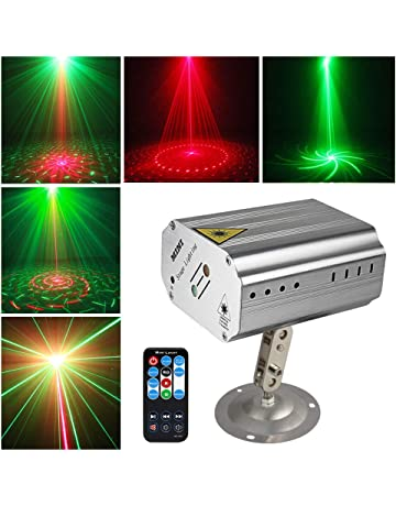 Sound activated Party Lights Disco Dj Stage Light Projector Metal Silver shell GOOLIGHT Strobe Lighting with