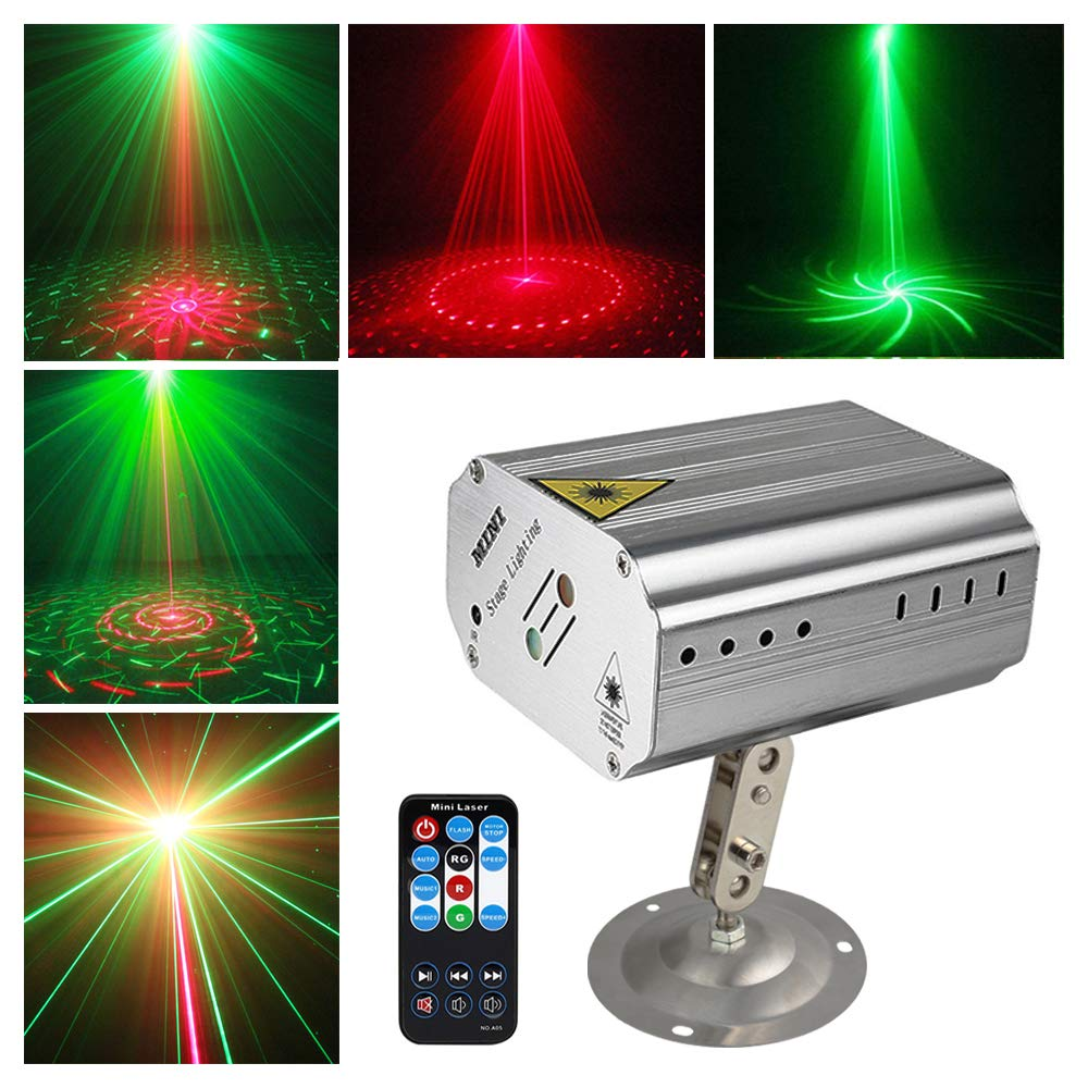 Sound activated Party Lights Disco Dj Stage Light Projector Metal Silver shell GOOLIGHT Strobe Lighting with Remote Control for Bar Birthday KTV Pub Karaoke Dancing Christmas Holiday Home Party Gift
