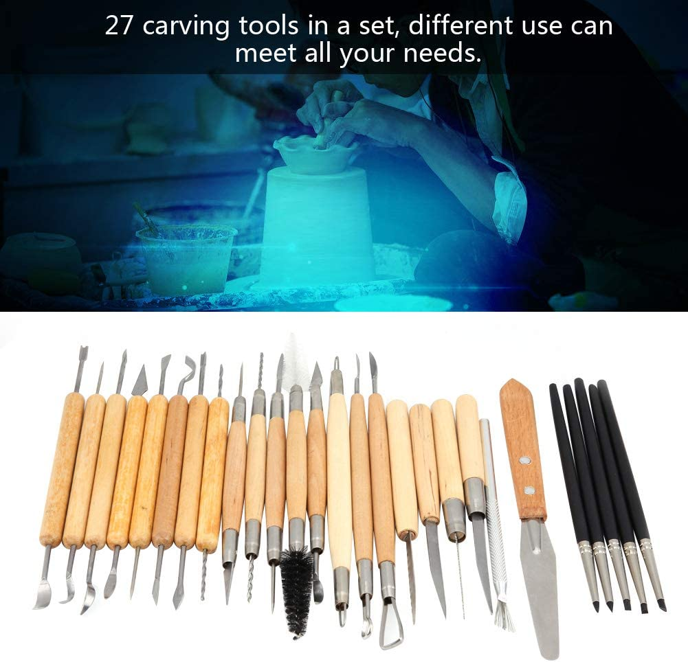 Pottery Clay Modeling Tools for Beginners Professional Art Crafts 27Pcs Clay Sculpting Tool Set