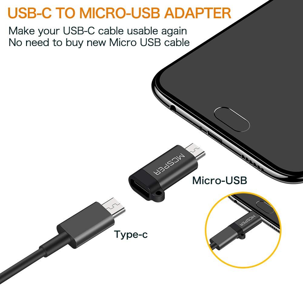 Amazon.com: Adaptador USB C a Micro USB, conector tipo C ...