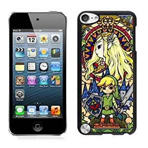 Fashionable And Unique Designed Case With Legend Of Zelda Black For iPod Touch 5 Phone Case