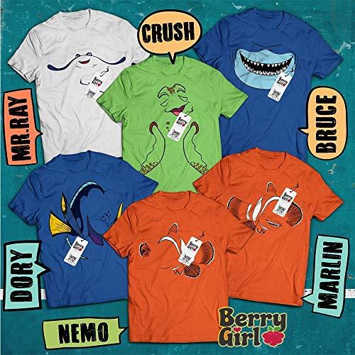 Orange Crush Halloween Costume (Nemo Friends Costume Crush-Bruce-Mr Ray-Dory-Nemo-Marlin Characters Halloween Matching Group Costume T-Shirt Hoodie/Long Sleeve/Tank)