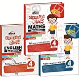 Olympiad Champs Science, Mathematics, English Class 4 with 15 Mock Online Olympiad Tests (set of 3 books)