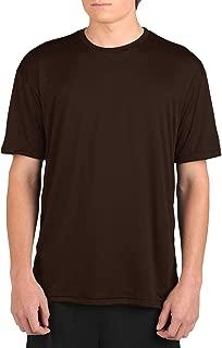 product image for WSI Microtech Loose Short Sleeve Shirt, Chocolate, Medium