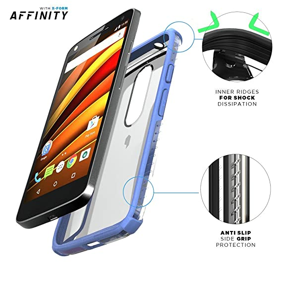 Amazon.com: Moto Droid Turbo 2 Case, POETIC Affinity Series Premium Thin/No Bulk/Slim fit/Clear/Dual Material Protective Bumper Case for Moto Droid Turbo 2 ...