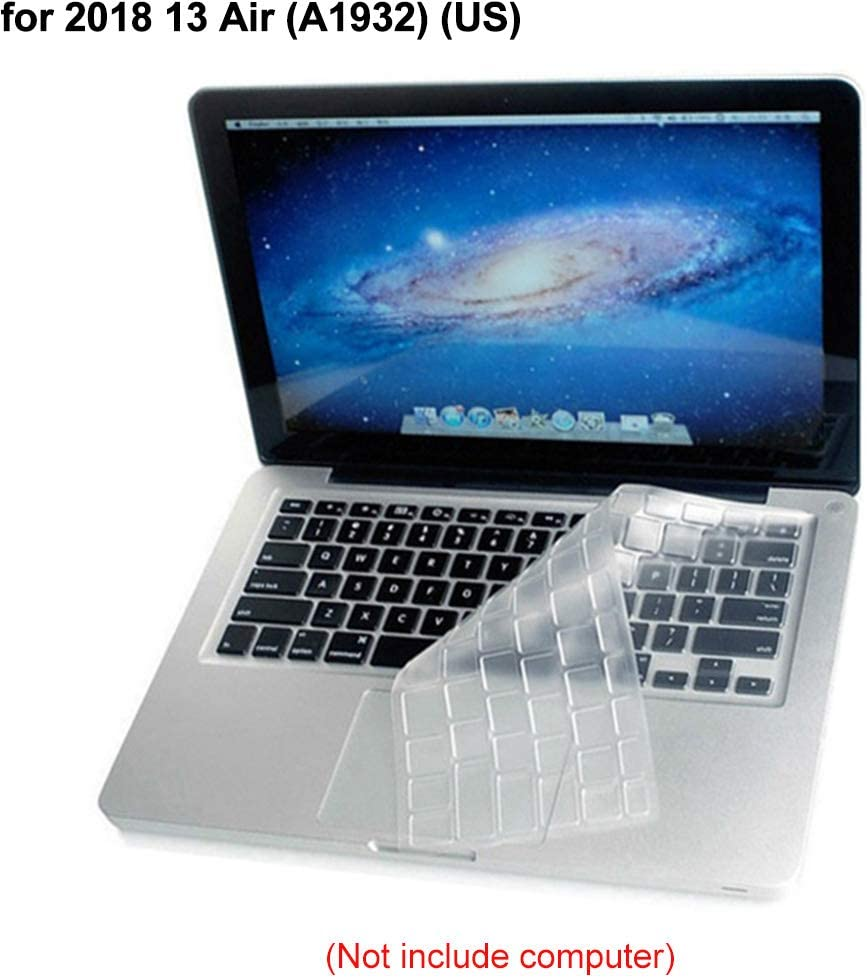 Keyboard Protector US Newrys Keyboard Cover A1932 Keyboard Stickers Silicone Clear Keyboard Protective Cover Film for MacBook Air 13inch Pro 15inch for 2018 13 Air