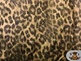 leopard upholstery fabric - Vintage Reversible Suede Backing Crushed Metallic Gold Leopard Upholstery Fabric / 58