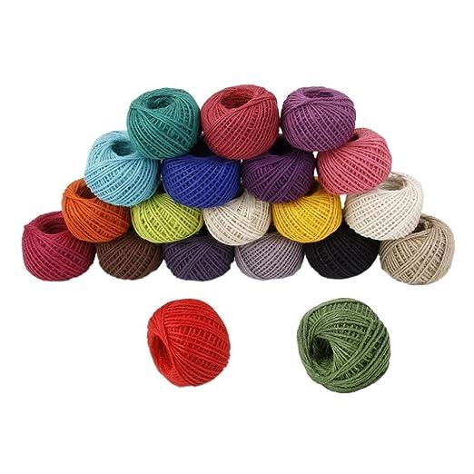 Dise/ño de medio ambiente color Twine Cuerda Cable Cuerda Bola manualidades verde oscuro itemer 50/M hecho a mano DIY cuerda de c/á/ñamo Regalo