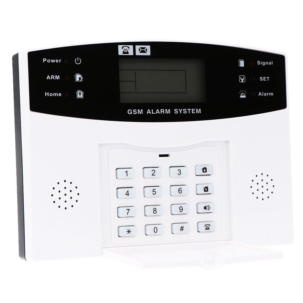 KKmoon Wireless GSM SMS Alarmanlage, Diebstahlsicherung, Sicherheit des Hauses, Set Sensor Bewegungsmelder mit Fernbedienung, 433 Mhz