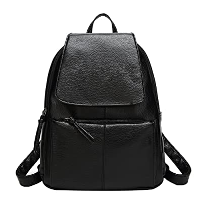 Donalworld Women Casual Preppy Backpack Bag School PU Leather Bag