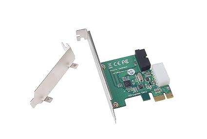 SilverStone SST-EC03S-P - USB 3.0 Tarjeta PCI-E Express, con conector macho de potencia 5V de 4 pines y 1 conector USB 3.0 de 20 pines (expande otros ...