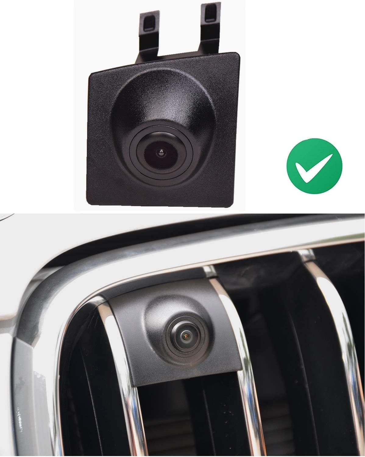 for Front Grille View Vehicle Logo Camera for BMW 3 5 7series X1 X3 Vehicle-Specific car Front View Logo Embedded Backup Camera Parking System with CCD Waterproof IP67 Middle