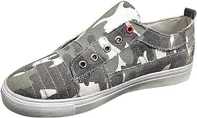 Zapatos para Mujer Zapatillas de Lona Moda para Mujer Pisos de ...