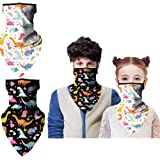 Kids Face protector Neck Gaiter with Ear Loops, Face Cover Reusable, Face bandanas Washable for Boys and Girls