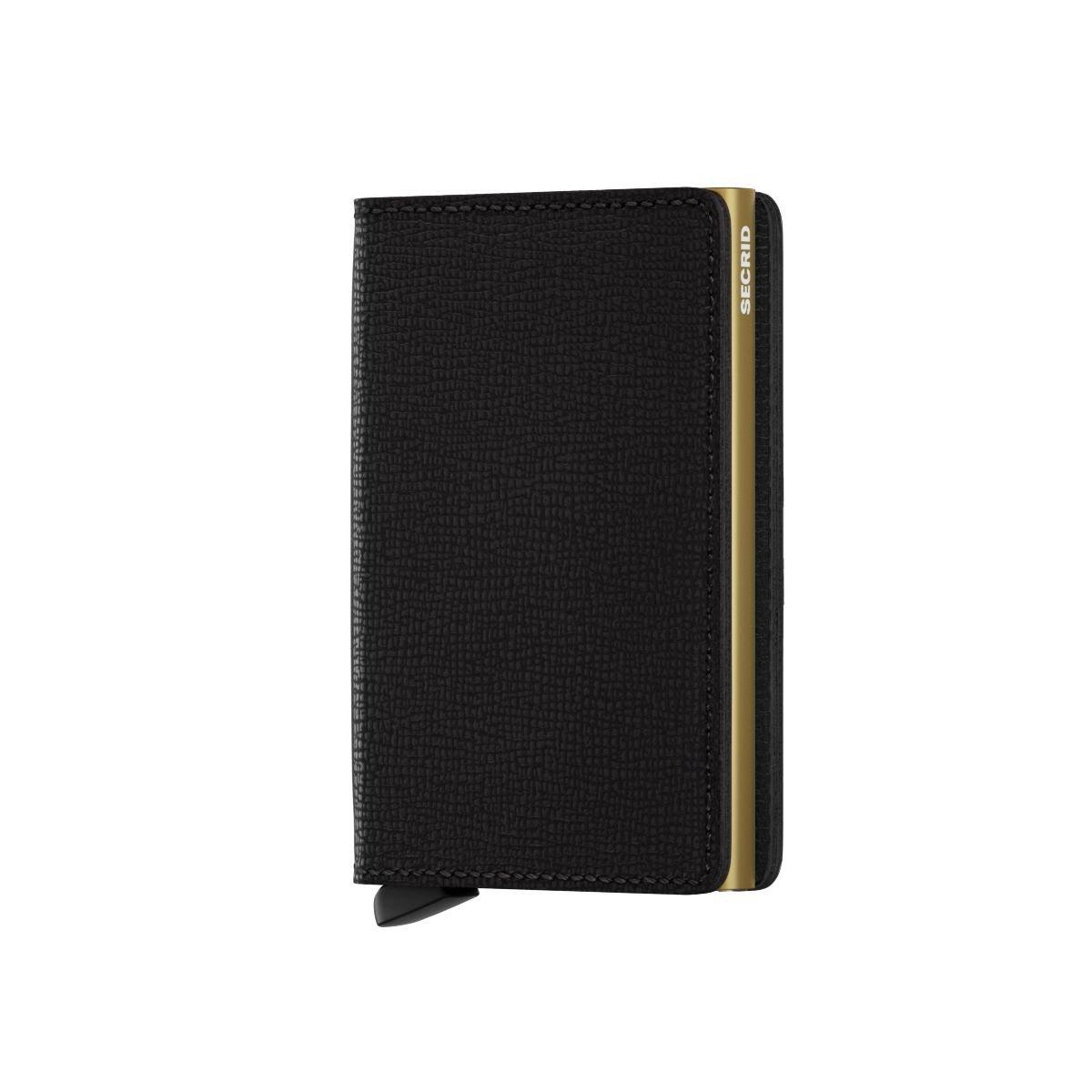 3dfdcf227fa Secrid Slim Wallet Portemonnee Crisple Black Gold: Amazon.de: Bekleidung