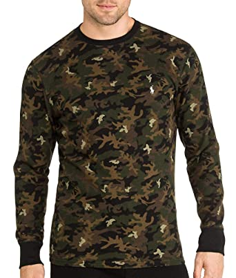 22268324 Amazon.com: Polo Ralph Lauren Waffle Knit Crew Neck Top, M, Camo Print:  Clothing
