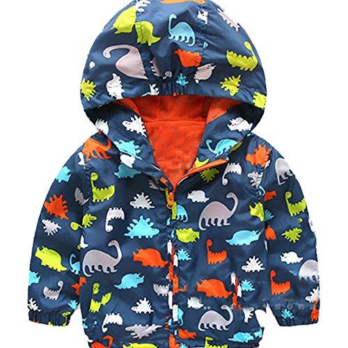 C360 Baby Kid Girl And Boy Outerwear Windbreaker Waterproof Raincoat Hooded Jackets Coat 2-7 Years (100cm, Color1)